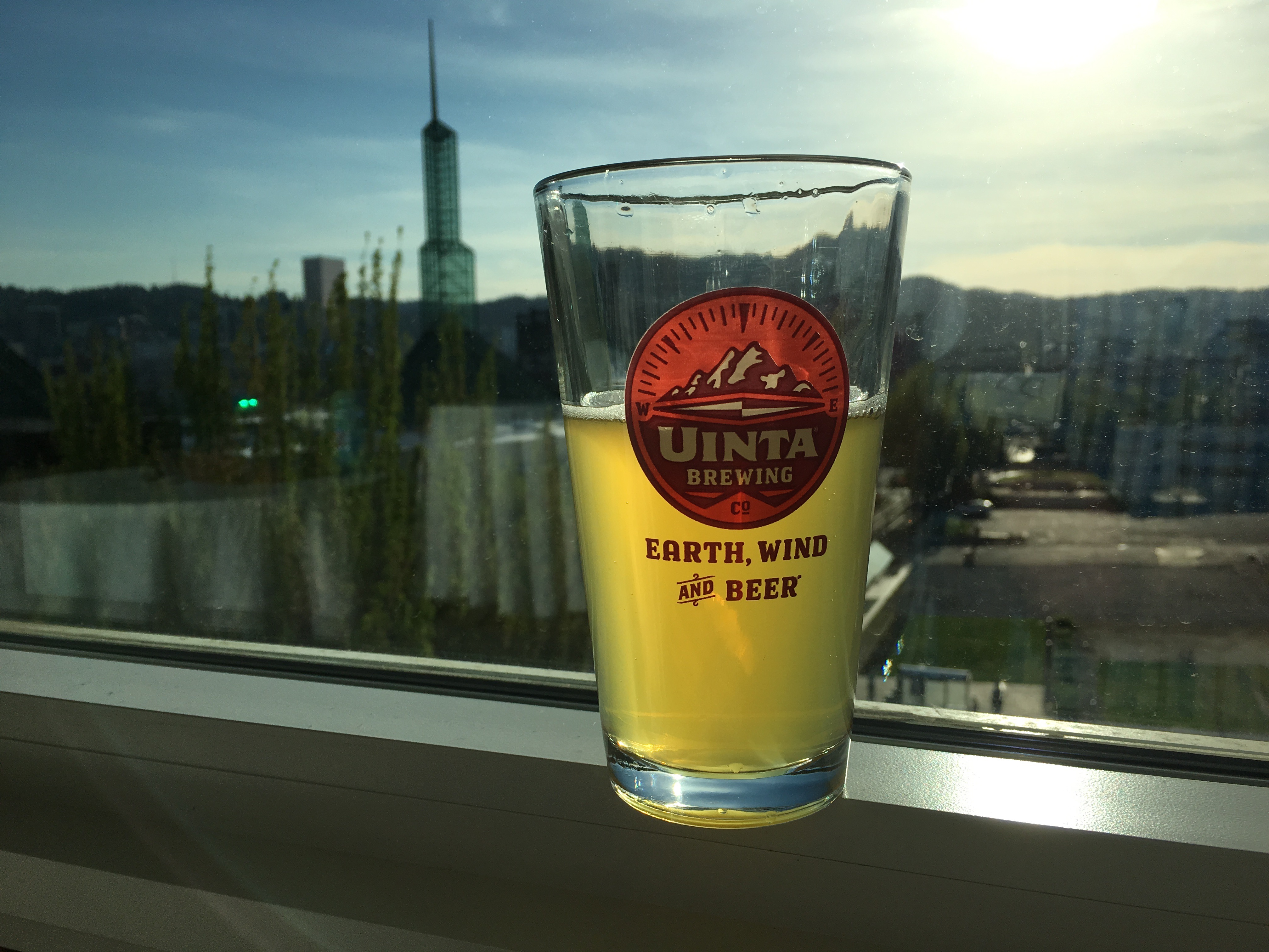 A glass of Uinta Free Free Form Gluten Free IPA at Altabira.
