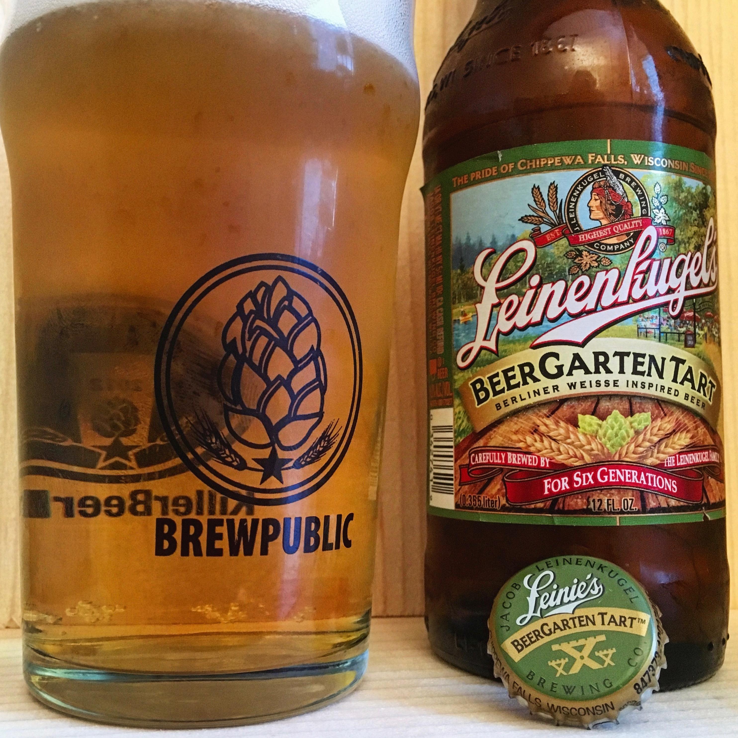 A pour of Leinenkugel's BeerGarten Tart in a Brewpublic glass.