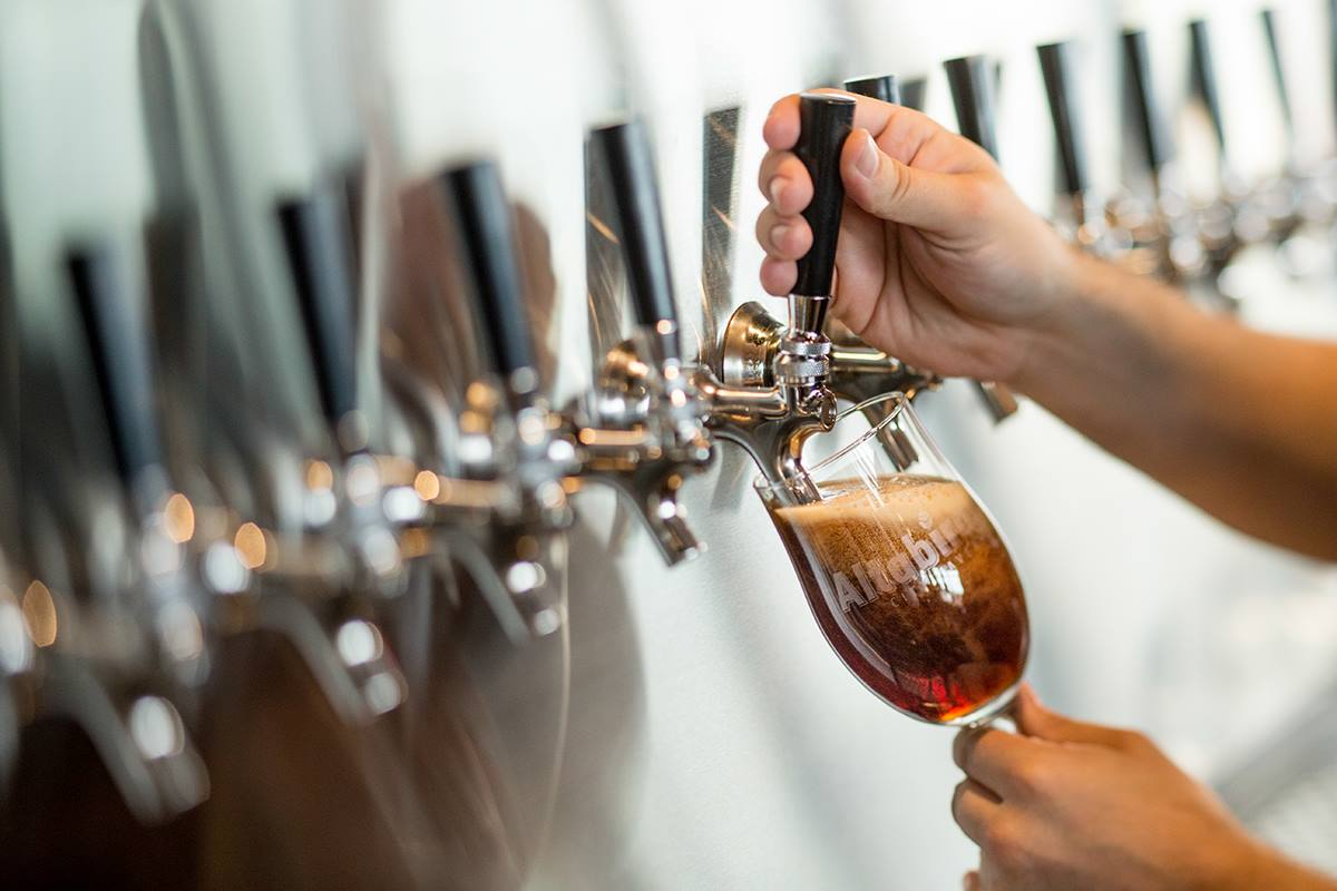 Altabira offers a great selection of craft beer on draft. (image courtesy of Altabira)