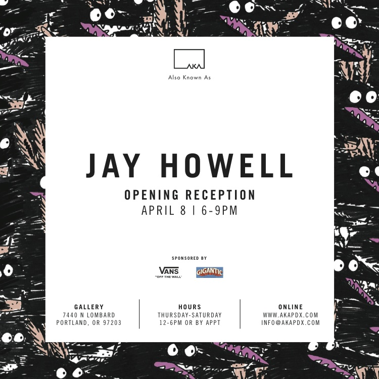 "Artist Jay Howell Opening Reception with Gigantic Brewing and Vans ""Off The Wall"""
