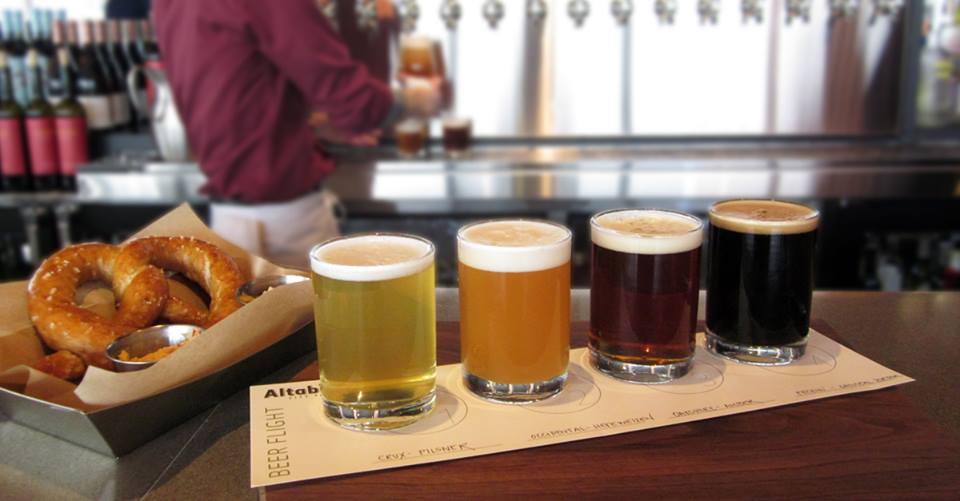 Beer Flights at the bar. (image courtesy of Altabira)