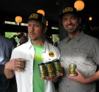 "Head brewer Tom Bleigh (right) and founder Christian Ettinger show off the culmination of six months of work – Hopworks new Gear Up IPA, a Northwest-Style IPA with a dry and tropical-hop profile. The beer is also HUB's first foray into the world of 12 oz. six-pack can. ""Every element of Gear Up IPA is meant to point to the majestic Pacific Northwest region,"" says marketing director Eric Steen. ""The beer is brewed with organic malted barley from Oregon, naturally filtered water from the Bull Run Watershed, and local hops. The label, designed by Jolby & Friends, portrays abstract landscapes of the Pacific Northwest sprinkled with images of the gear used for exploring the natural world."" Look for it on grocers' shelves now."