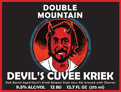 Double Mountain Devil's Cuvee Kriek Label