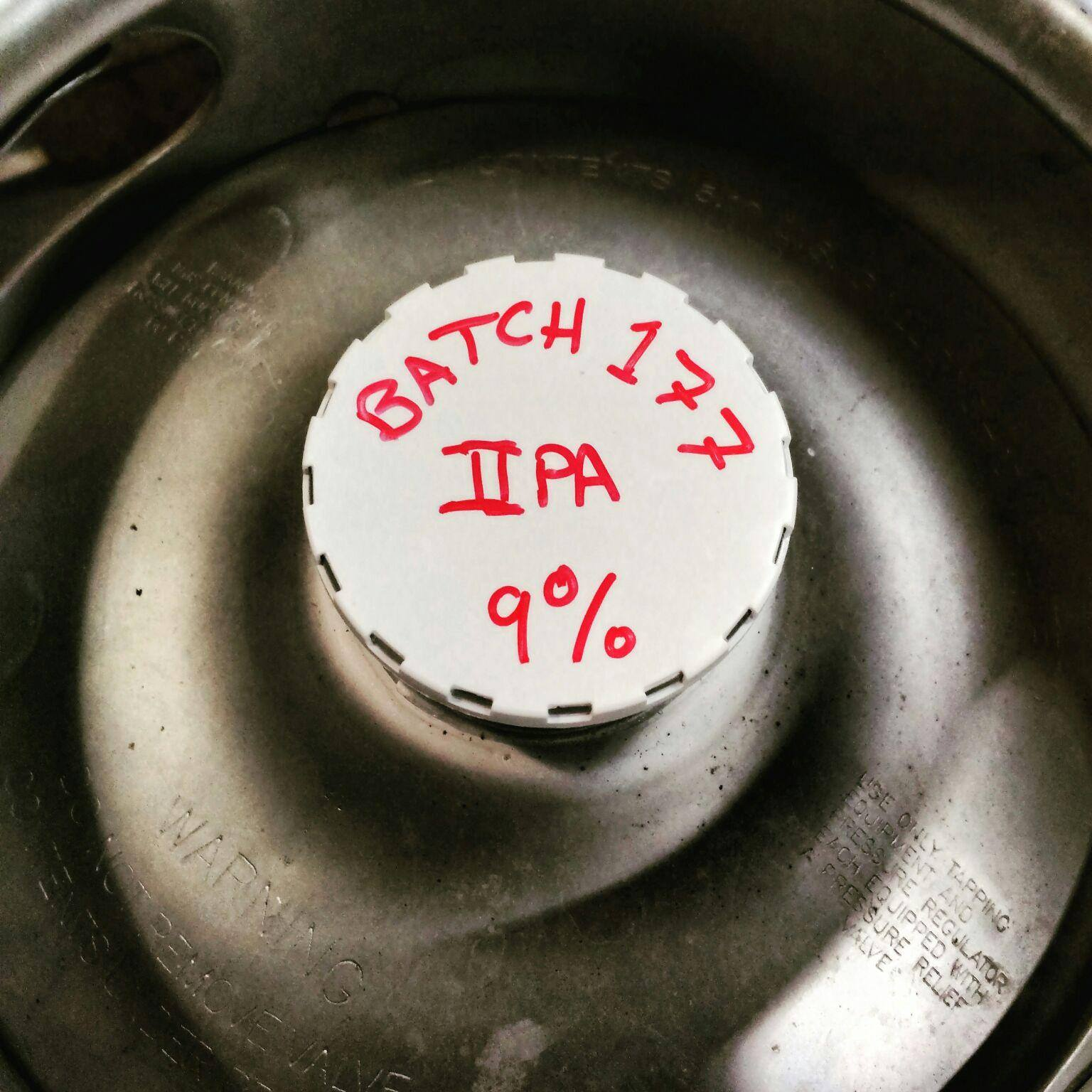 Humble Brewing Batch 177 IIPA. (image courtesy of Humble Brewing)