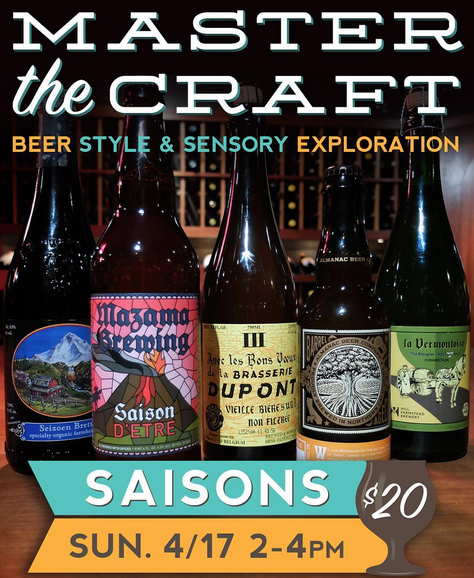 Master the Craft Beer Style & Sensory Exploration featuring Saisons