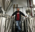 Matt Van Wyk of Alesong Brewing & Blending on the brew deck at Block 15 Brewing.