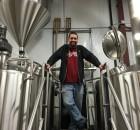 Matt Van Wyk of Alesong Brewing & Blending on the brew deck at Block 15 Brewing.