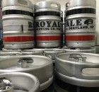Royale Brewing kegs at its production brewery in NE Portland.