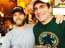 Sean Thommen (left) and Chris Spollen (right) at Saraveza. (photo by Angelo M. De Ieso II)