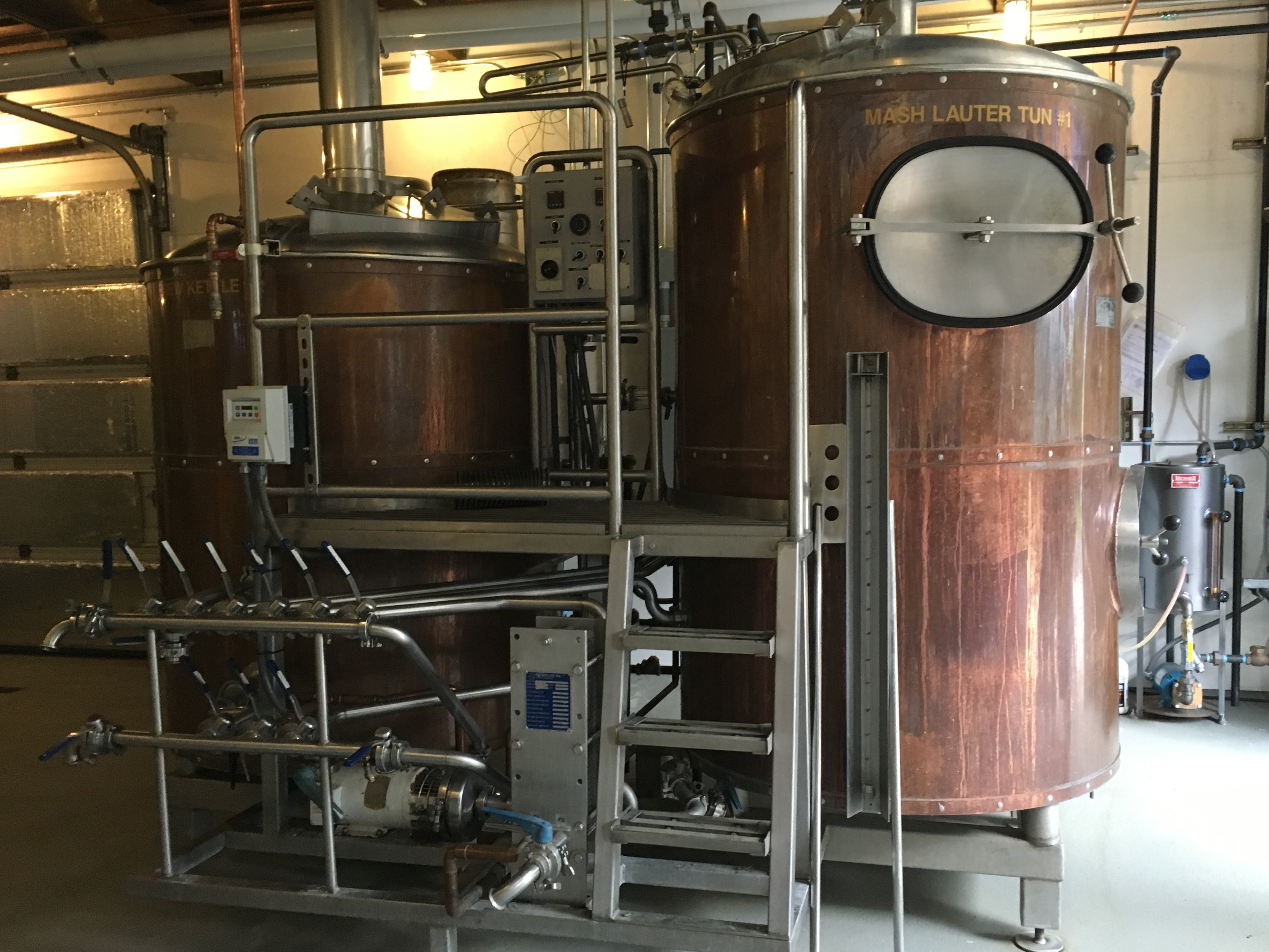 7-barrel brewhouse at Wolves & People that was once used at Heater Allen Brewing in neighboring McMinnville.