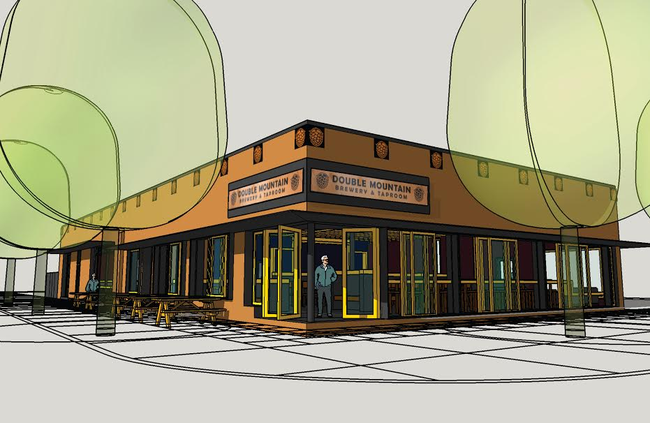 Architectual Rendering of Double Mountain Taproom-Woodstock provided by EM Architecture LLC