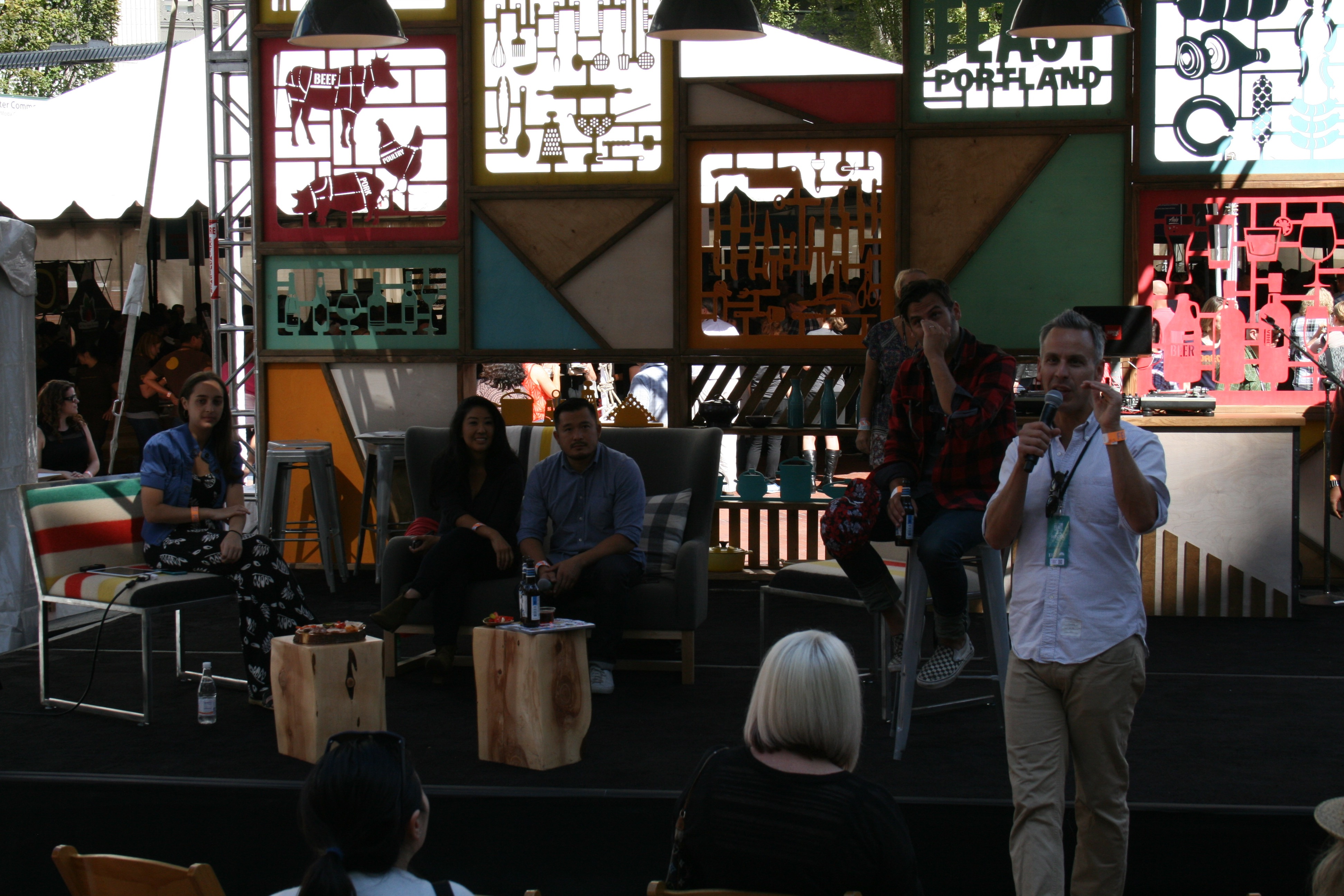 Bon Appetit Stage at Feast Portland during Grand Tasting at Pioneer Courthouse Square. (photo by D.J. Paul)