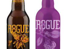 Bottles of Honey Kolsch and Marionberry Braggot. (image courtesy of Rogue Ales)