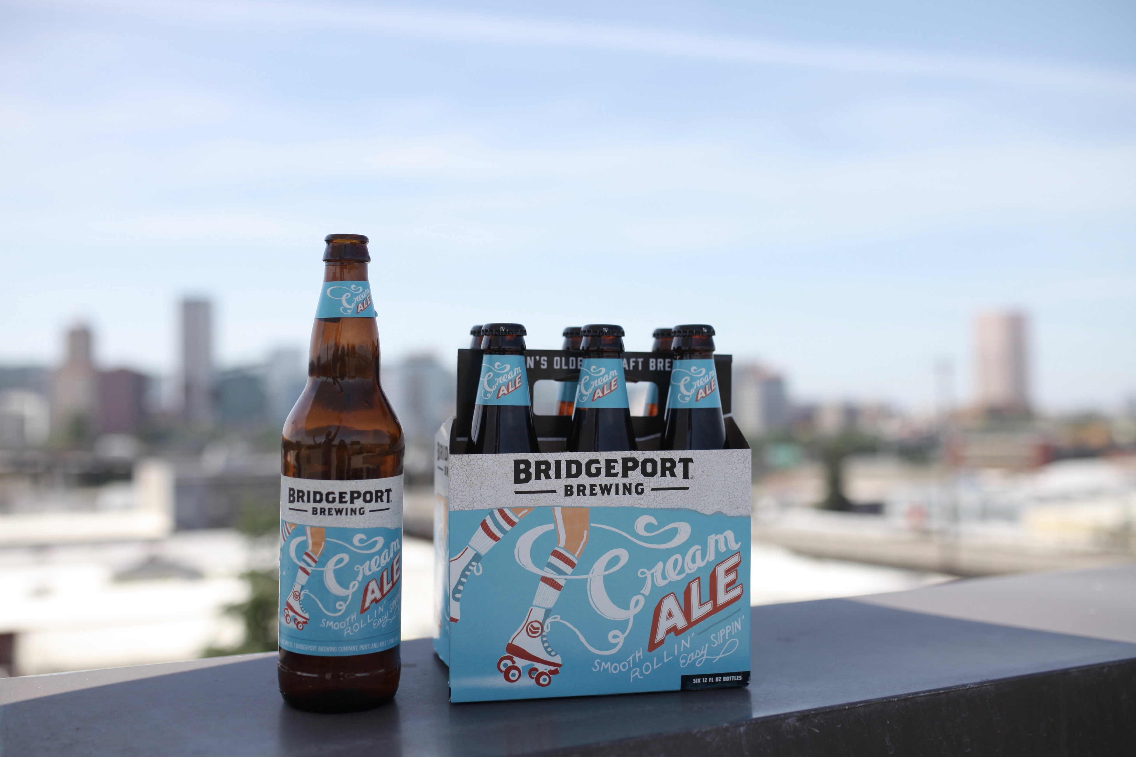 BridgePort Cream Ale 6 Pack and 22 oz. Bottle. (image courtesy of BridgePort Brewing)