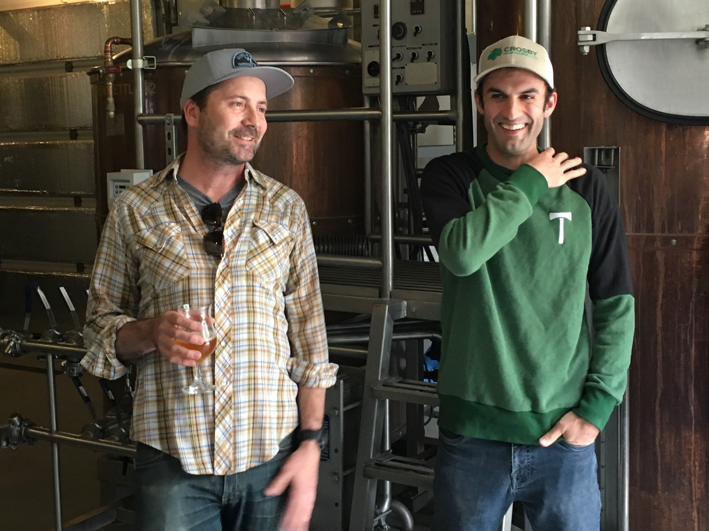 Christian DeBenedetti and Jake Miller discussing the time it took to open Wolves & People Farmhouse Brewery.