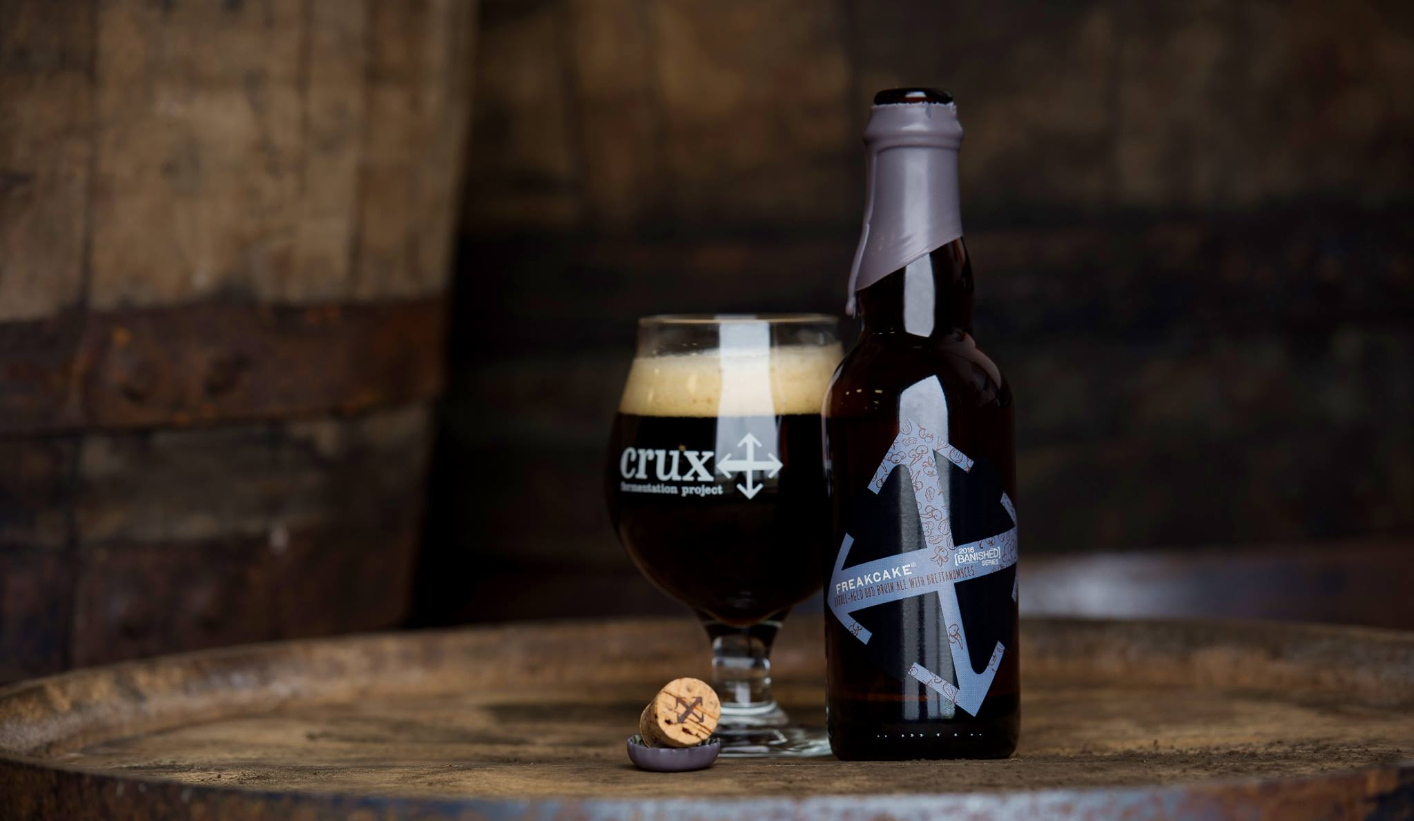 Crux Fermentation Project Banished Freakcake Oud Bruin. (image courtesy of Crux Fermentation Project)