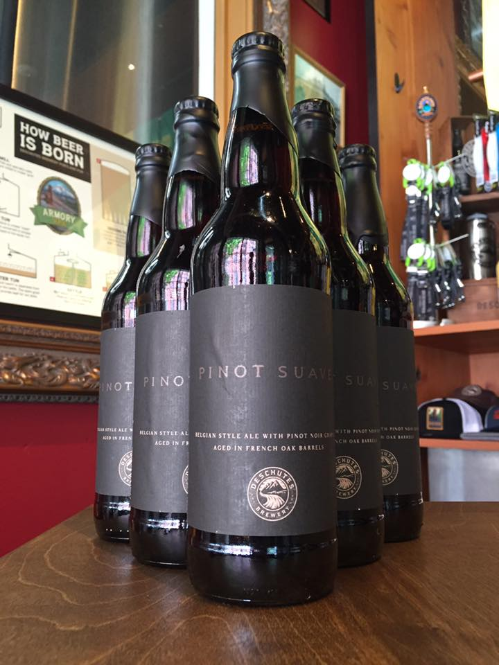 Deschutes Brewery Pinot Suave 22 oz. Bottles. (image courtesy of Deschutes Brewery)