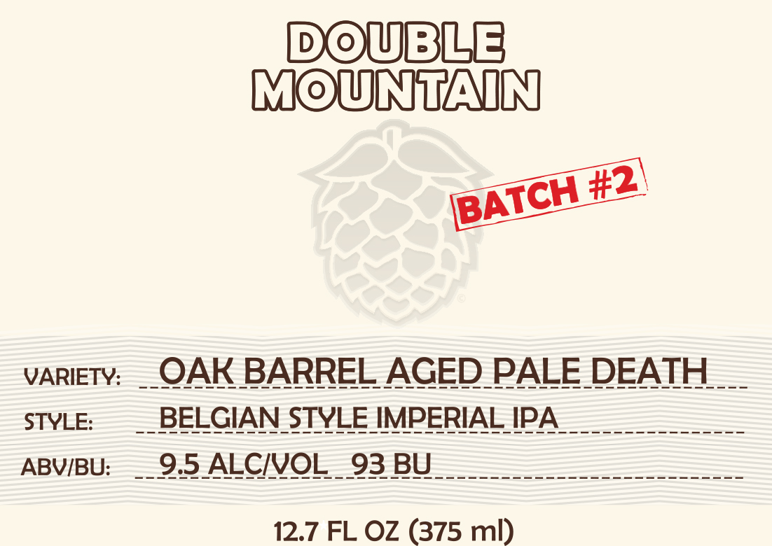 Double Mountain Oak Pale Death Label  (image courtesy of Double Mountain Brewery & Taproom)