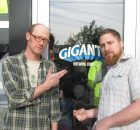 Gigantic Brewing founders Van Havig (left) and Ben Love at the brewery's opening on May 9, 2012, (photo by Angelo De Ieso)