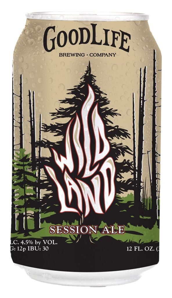 GoodLife Brewing Wildland Session Ale front of the can. (image courtesy of GoodLife Brewing)