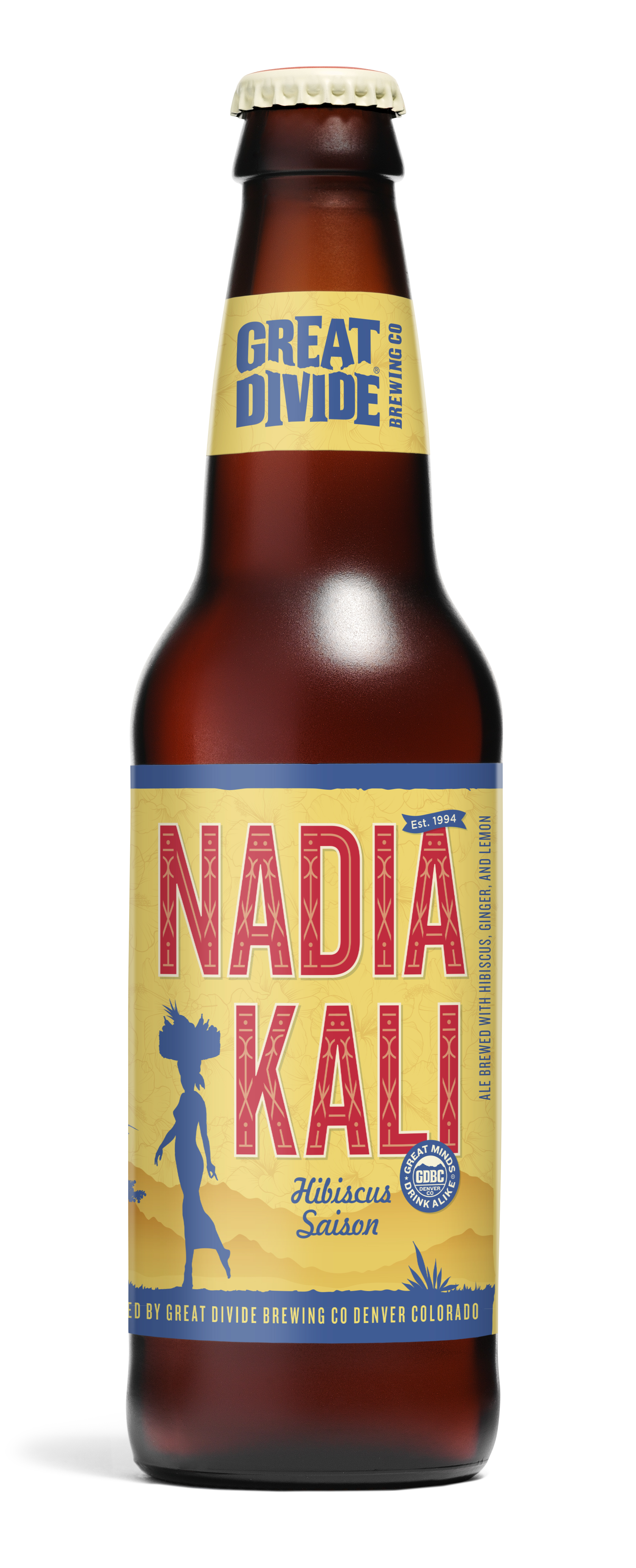 Great Divide Brewing Nadia Kali Hibiscus Saison 12 oz. Bottle (image courtesy of Great Divide)
