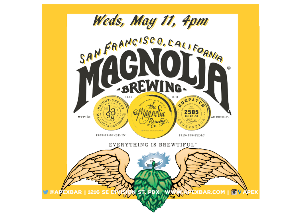 Magnolia Brewing at APEX Wednesday May 11, 2016