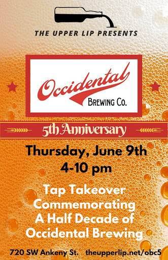 Occidental Brewing at The Upper Lip