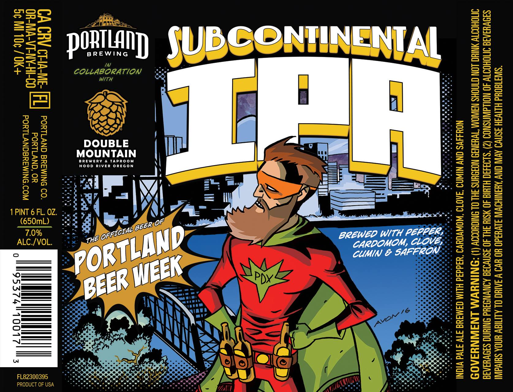 Portland Brewing and Double Mountain Brewery Subcontinental IPA. (image courtesy of PDX Beer Week Facebook Page)