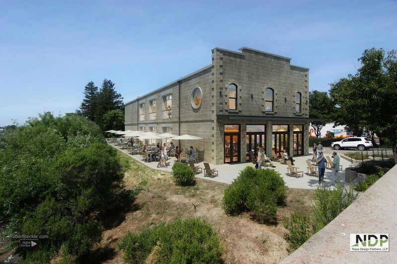 Rendering of new Stone Brewing Tap Room - Napa from Napa Design Partners. (image courtesy of Stone Brewing)