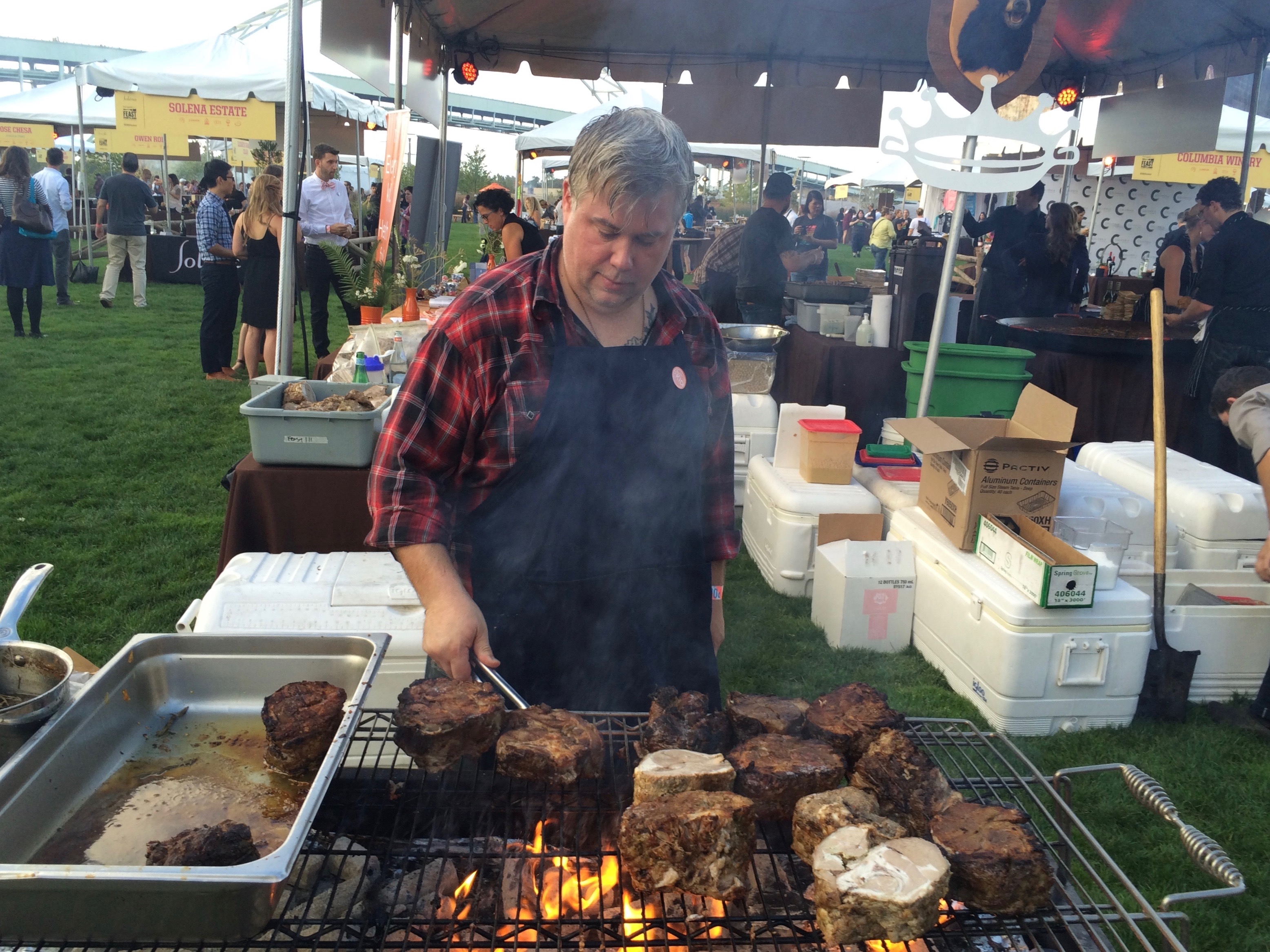 Tommy Habetz of Bunk Sandwiches and Pizza Jerk at Smoked! during Feast Portland. (photo by D.J. Paul)