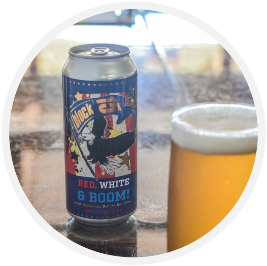 A can of Block 15 Red, White & BOOM!. (image courtesy of Block 15 Brewery)
