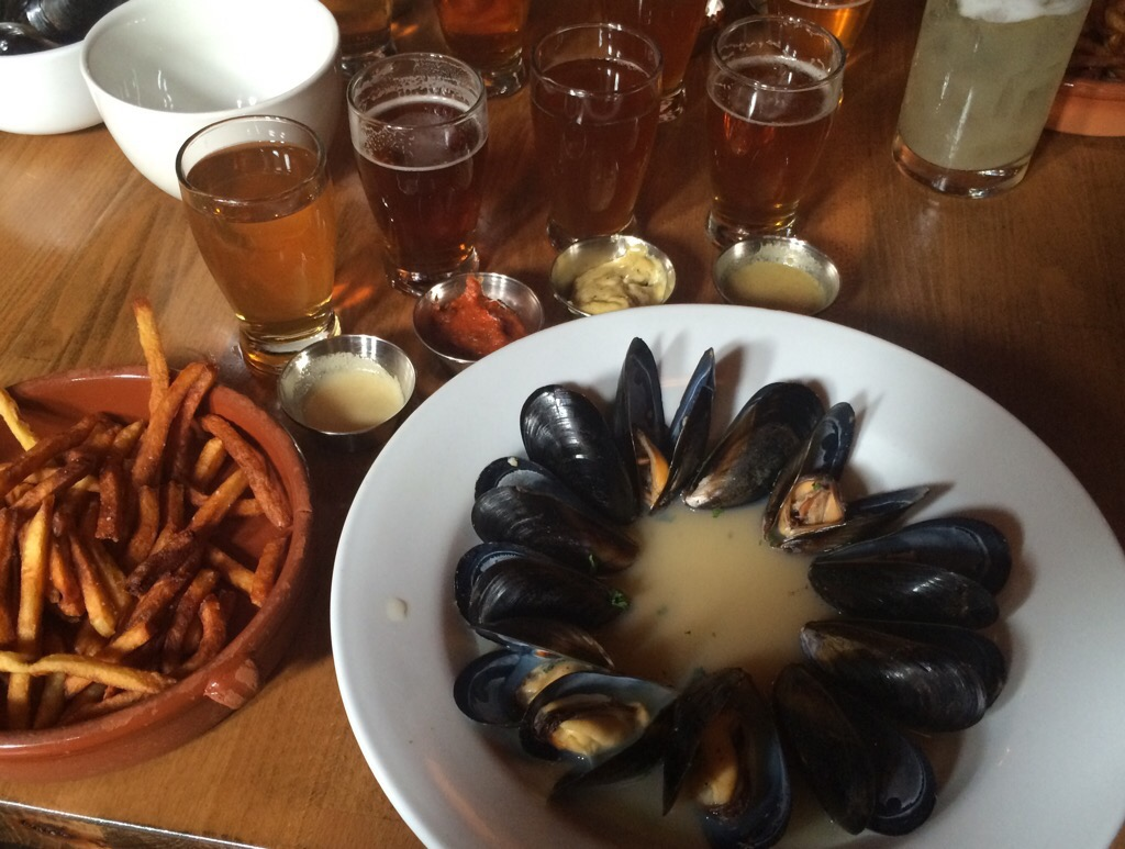 A plate of mussels from 2015 Mussels From Brussels at Bazi. (photo by D.J. Paul)