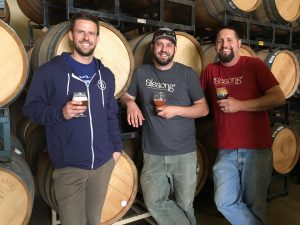 Alesong Brewing & Blending owners Doug Coombs, Brian Coombs and Matt Van Wyk. (photo by D.J. Paul)