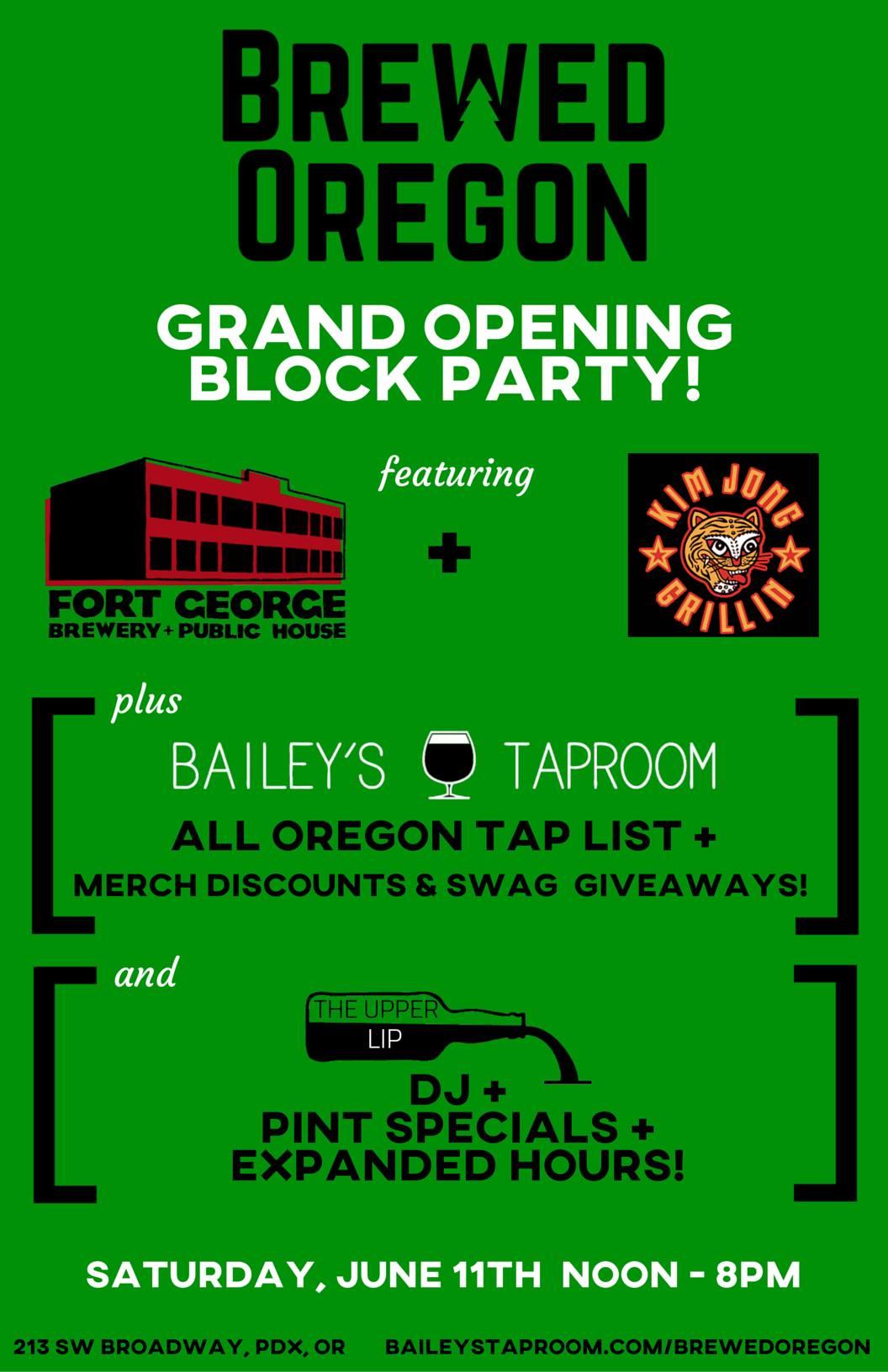 BrewedOregon Grand Opening Block Party
