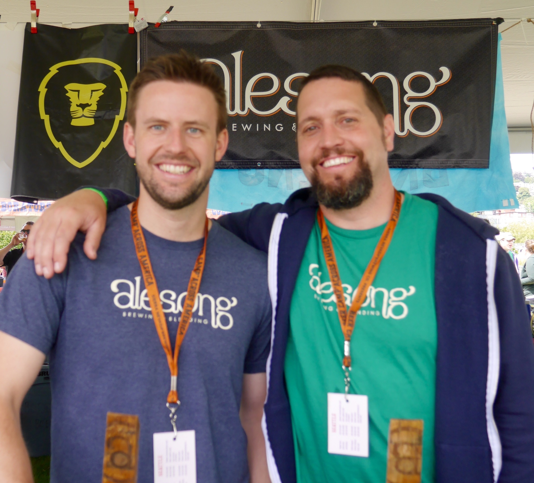 Doug Coombs and Matt Van Wyk of Alesong Brewing & Blending at Sierra Nevada Beer Camp Across America Festival in Seattle. (photo by Cat Stelzer)