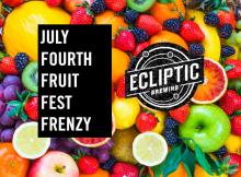 Ecliptic Brewing July Fourth Fruit Fest Frenzy