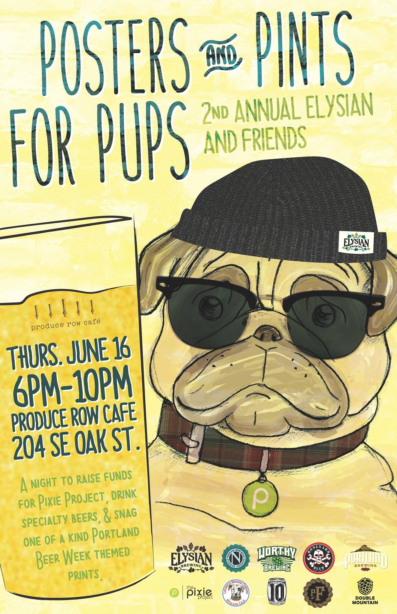Elysian & Friends Presents Posters & Pints for Pups