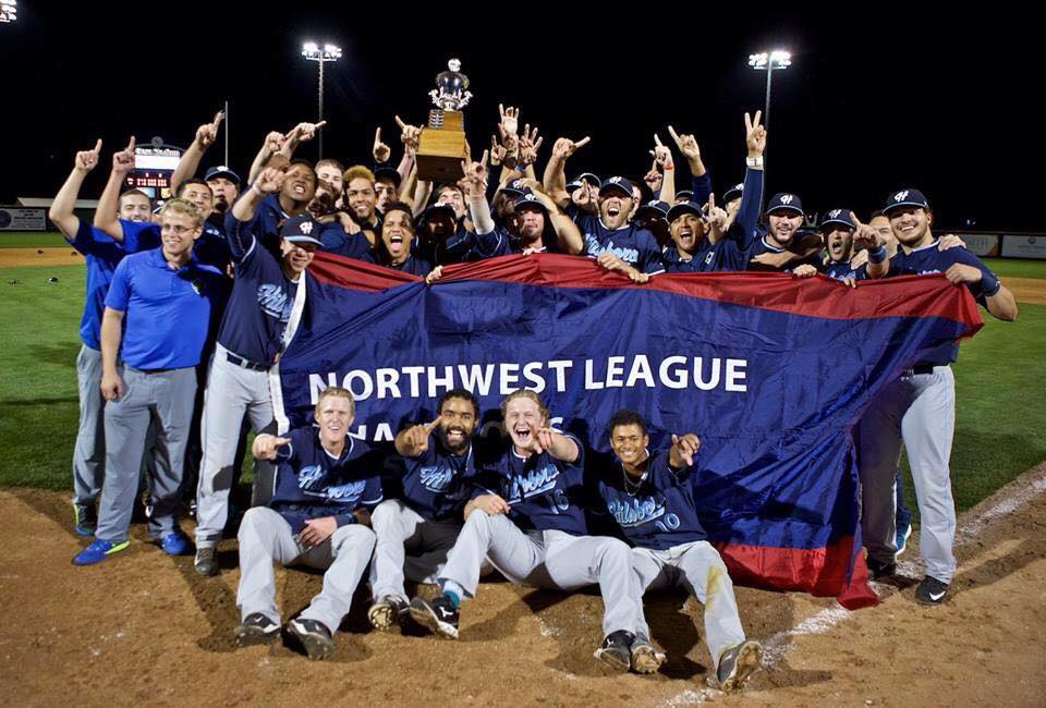 Hillsboro Hops, back to back Northwest League champs from 2014-2015. (image courtesy of the Hillsboro Hops)