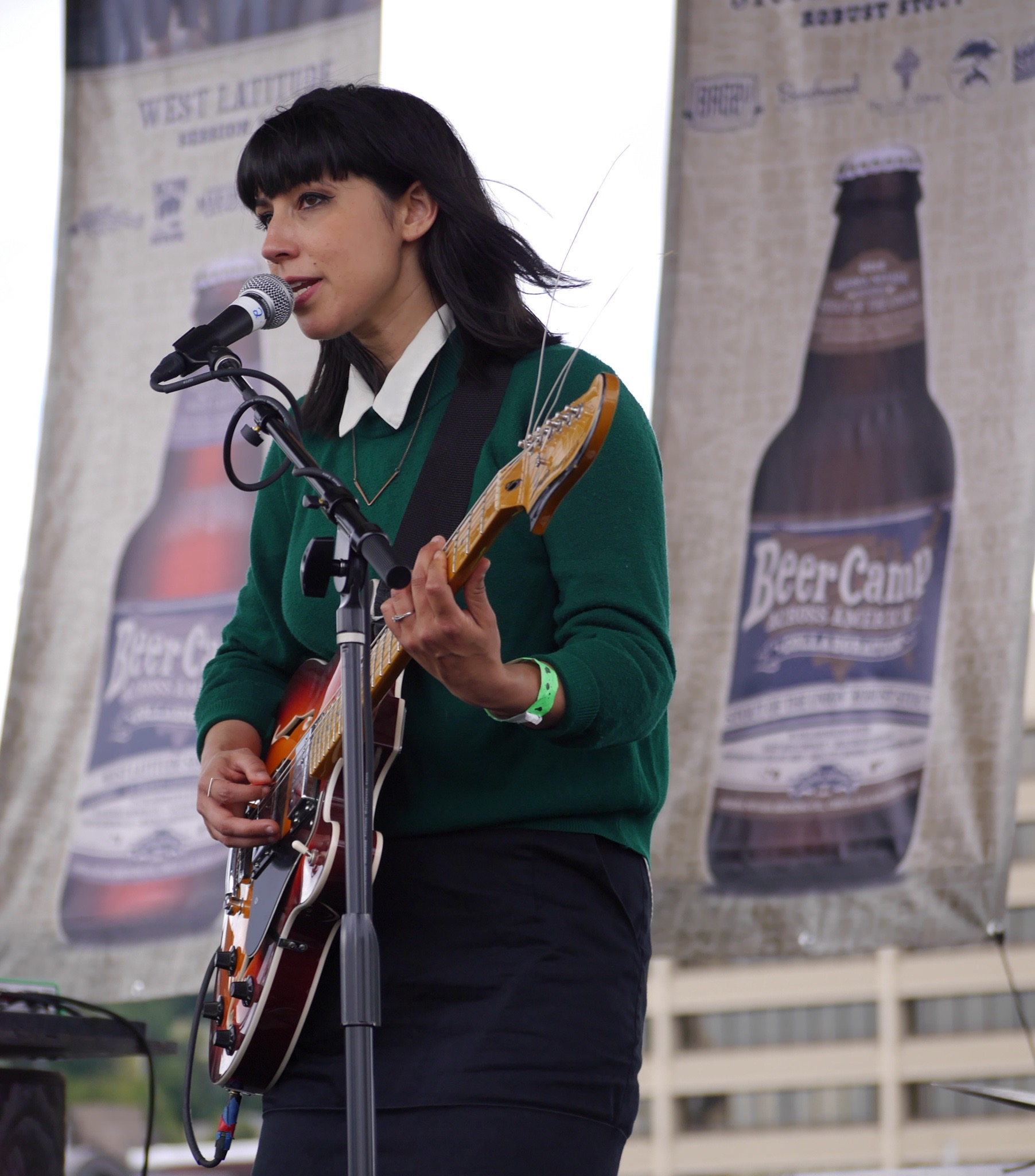 Jessica Dobson of Deep Sea Diver performing at Sierra Nevada Beer Camp Across America Festival in Seattle. (photo by Cat Stelzer)