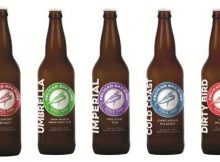 Lineup of new Pelican labels for its 22 oz. program. (image courtesy of Pelican Brewing)