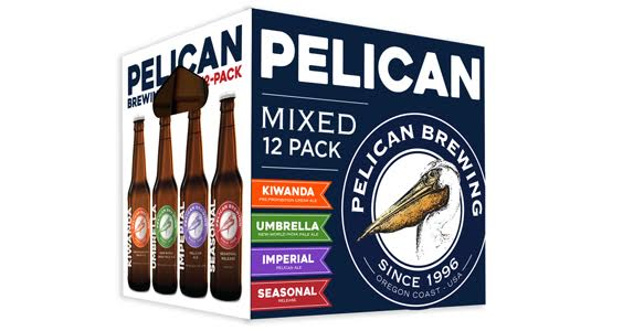 New Pelican mixed 12 Pack. (image courtesy of Pelican Brewing)