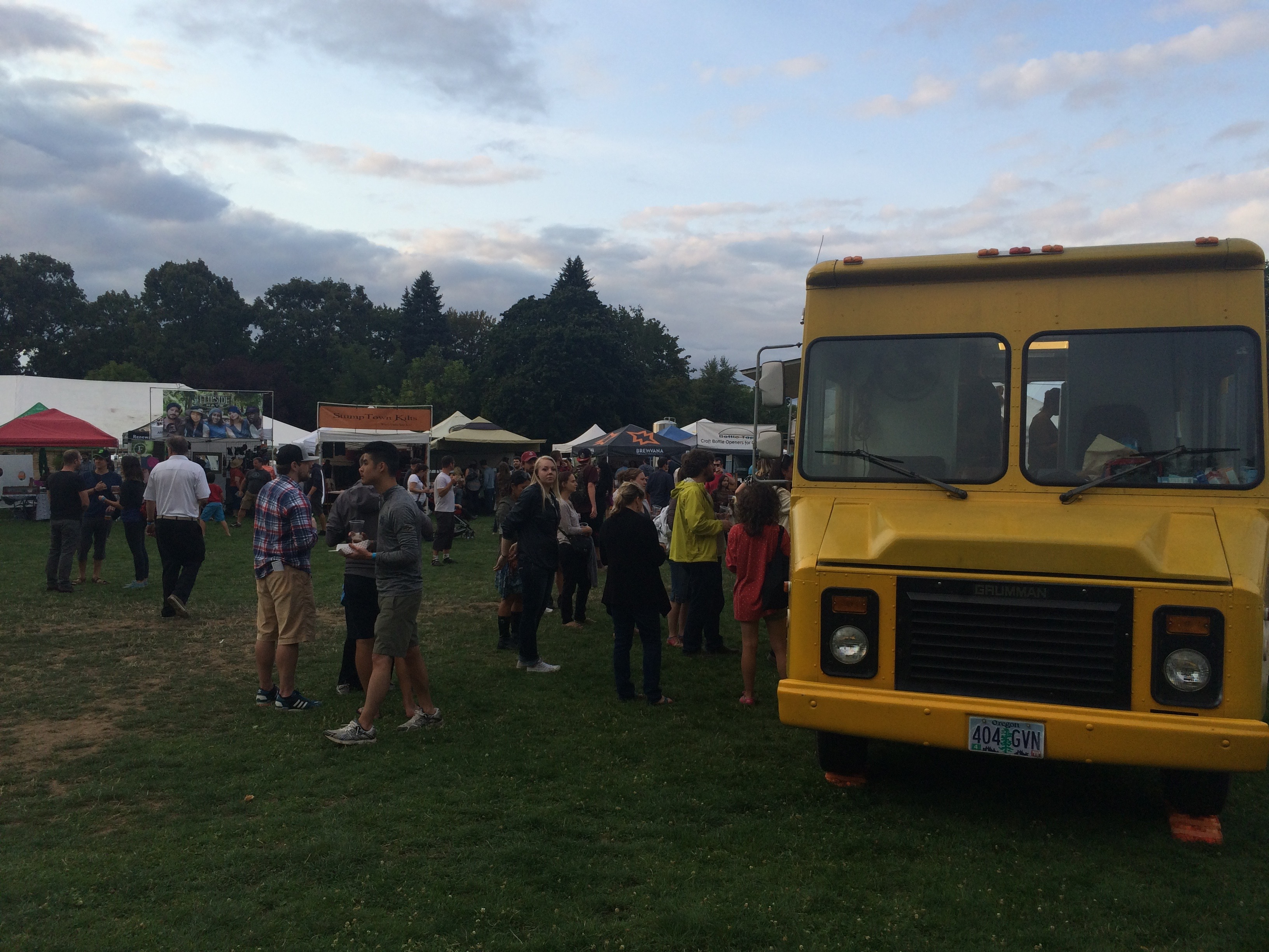 One of the food trucks at the 2015 Organic Beer Fest in Portland, Oregon.