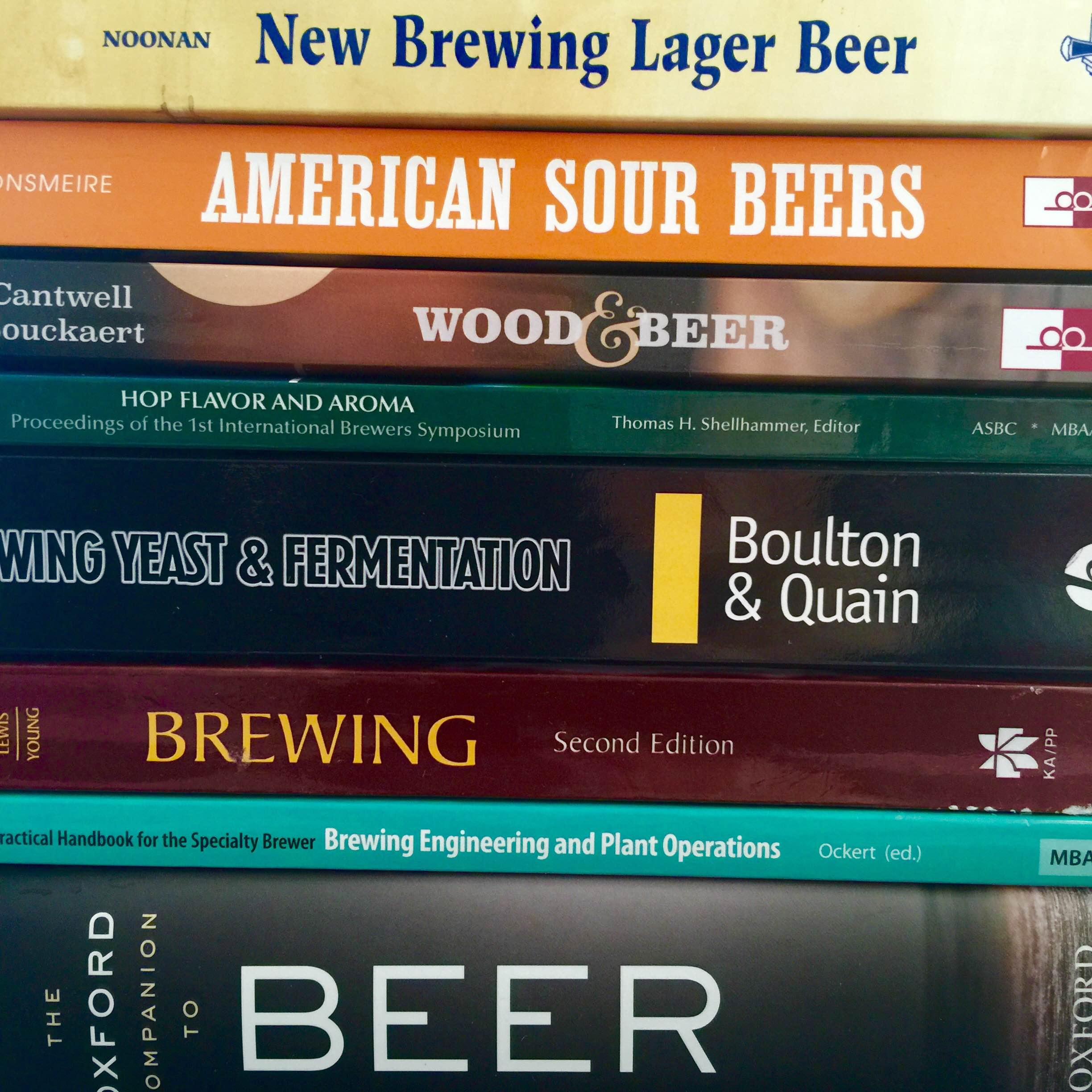 Reading materials all necessary when studying for the Advanced Cicerone. (photo by Ryan Spencer)