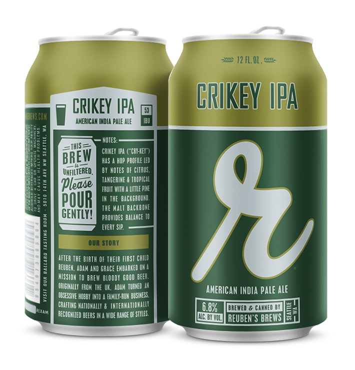Reuben's Brews Crikey IPA (image courtesy of Reuben's Brews)