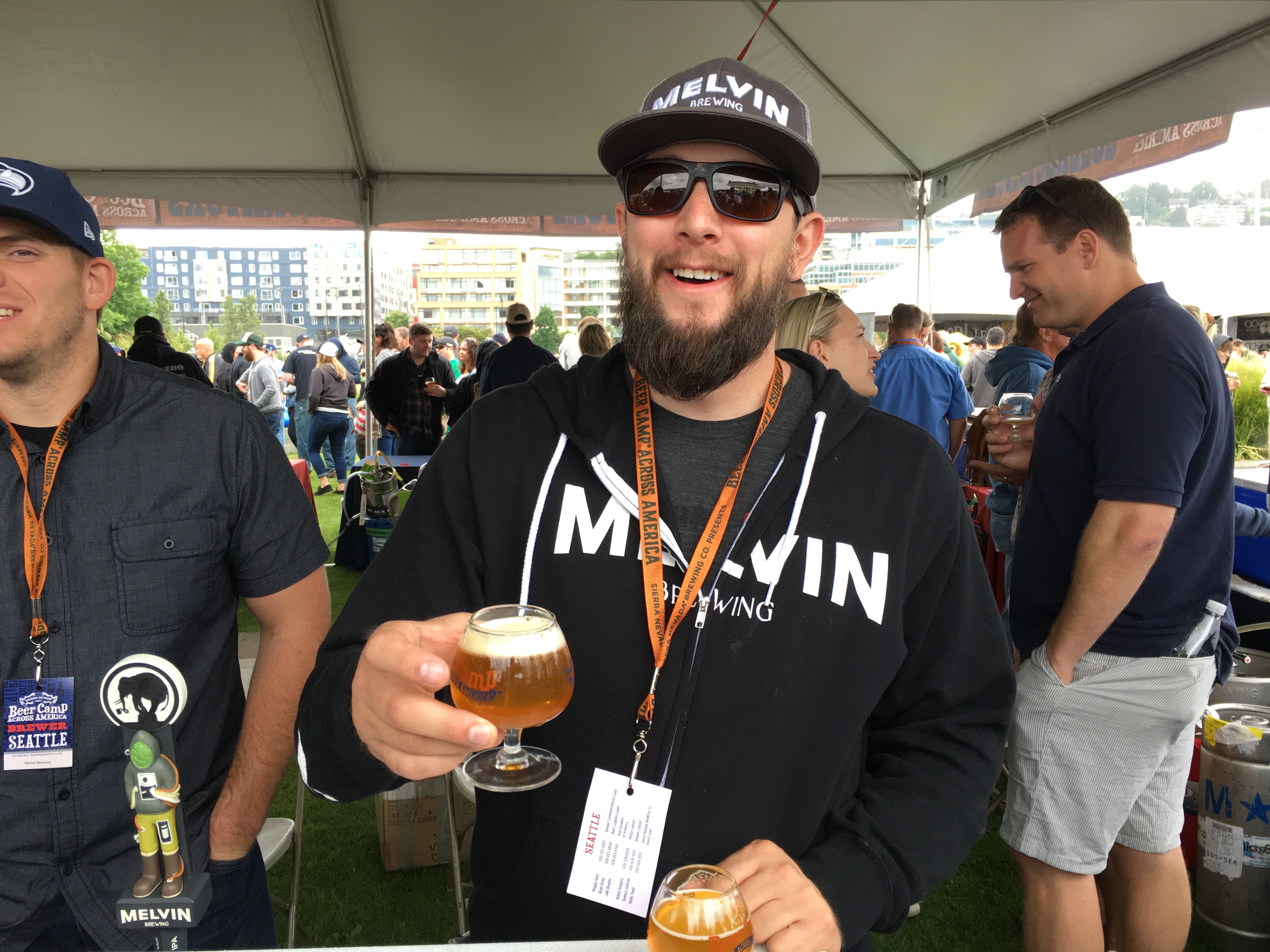 Served a tasty 2x4 from Melvin Brewing at Sierra Nevada Beer Camp Across America Festival in Seattle. (photo by D.J. Paul)