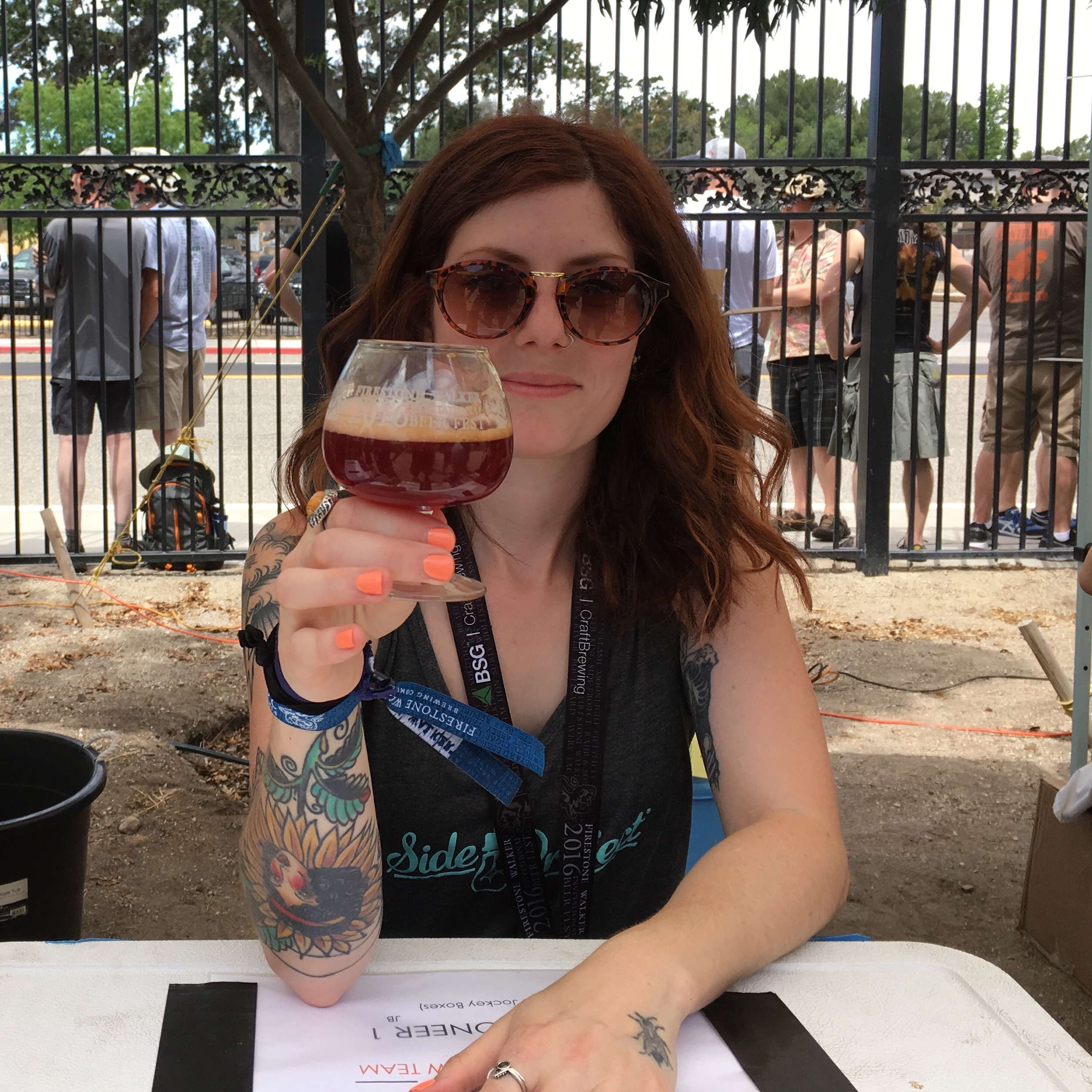 Side Project Brewing's Punchdown, a Missouri Wild Ale aged in Oak Barrels with MIssouri Chambourcin Grapes. One of the more notable beers at the 2016 Firestone Walker Invitational Beer Fest.