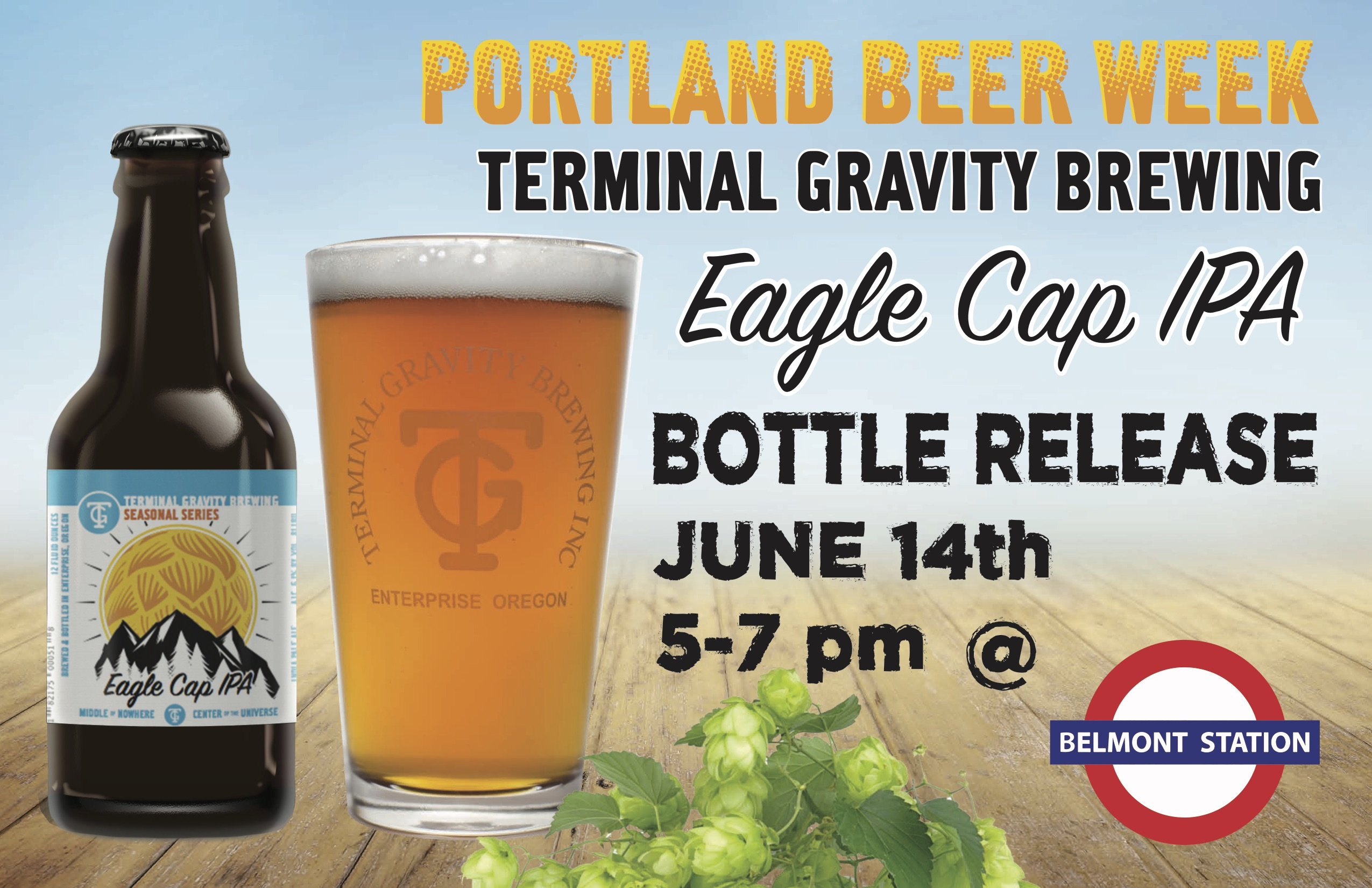 Terminal Gravity Eagle Cap Beer Release at Belmont Station on June 14, 2016