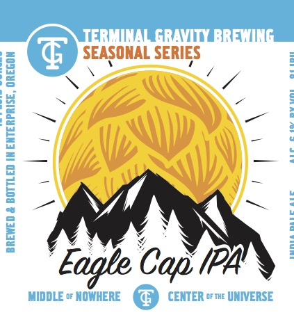 Terminal Gravity Eagle Cap Bottle Label