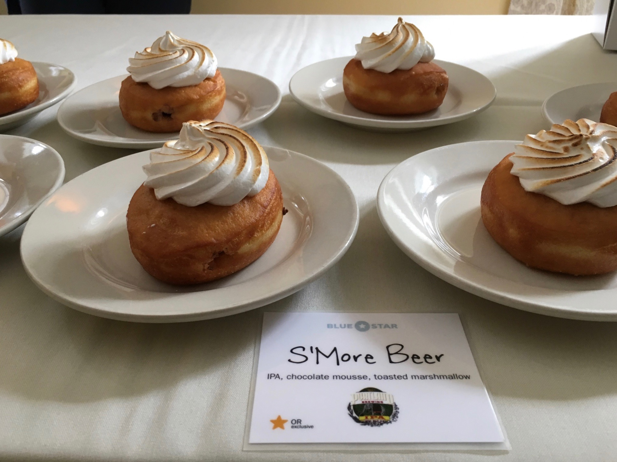 The PDX Beer Week Donut, S'more Beer Doughnut by Blue Star. (photo by Cat Stelzer)