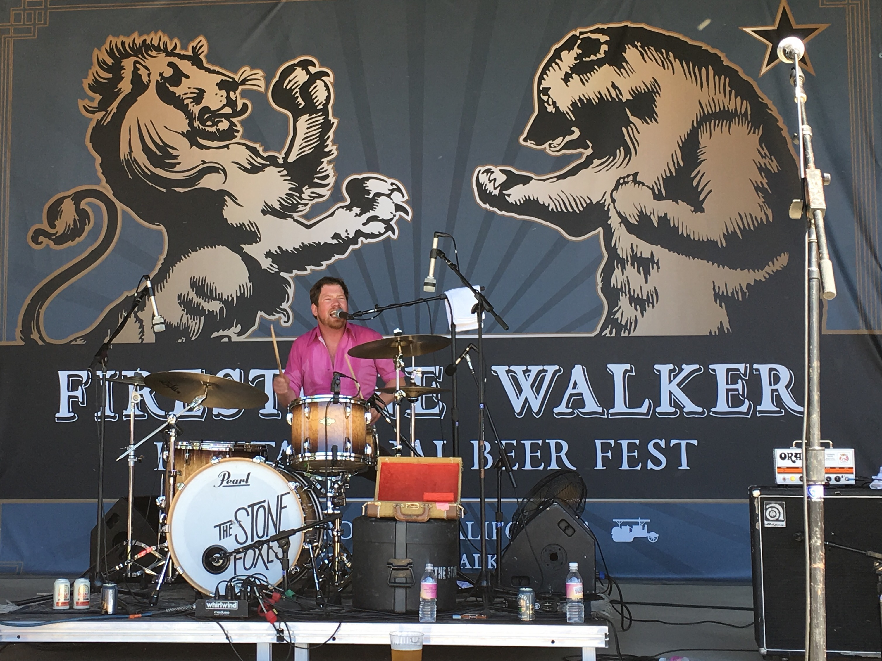 The Stone Foxes headline the music stage during the 2016 Firestone Walker Invitational Beer Fest.